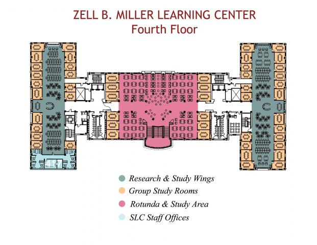 Floor Plans Zell B Miller Learning Center