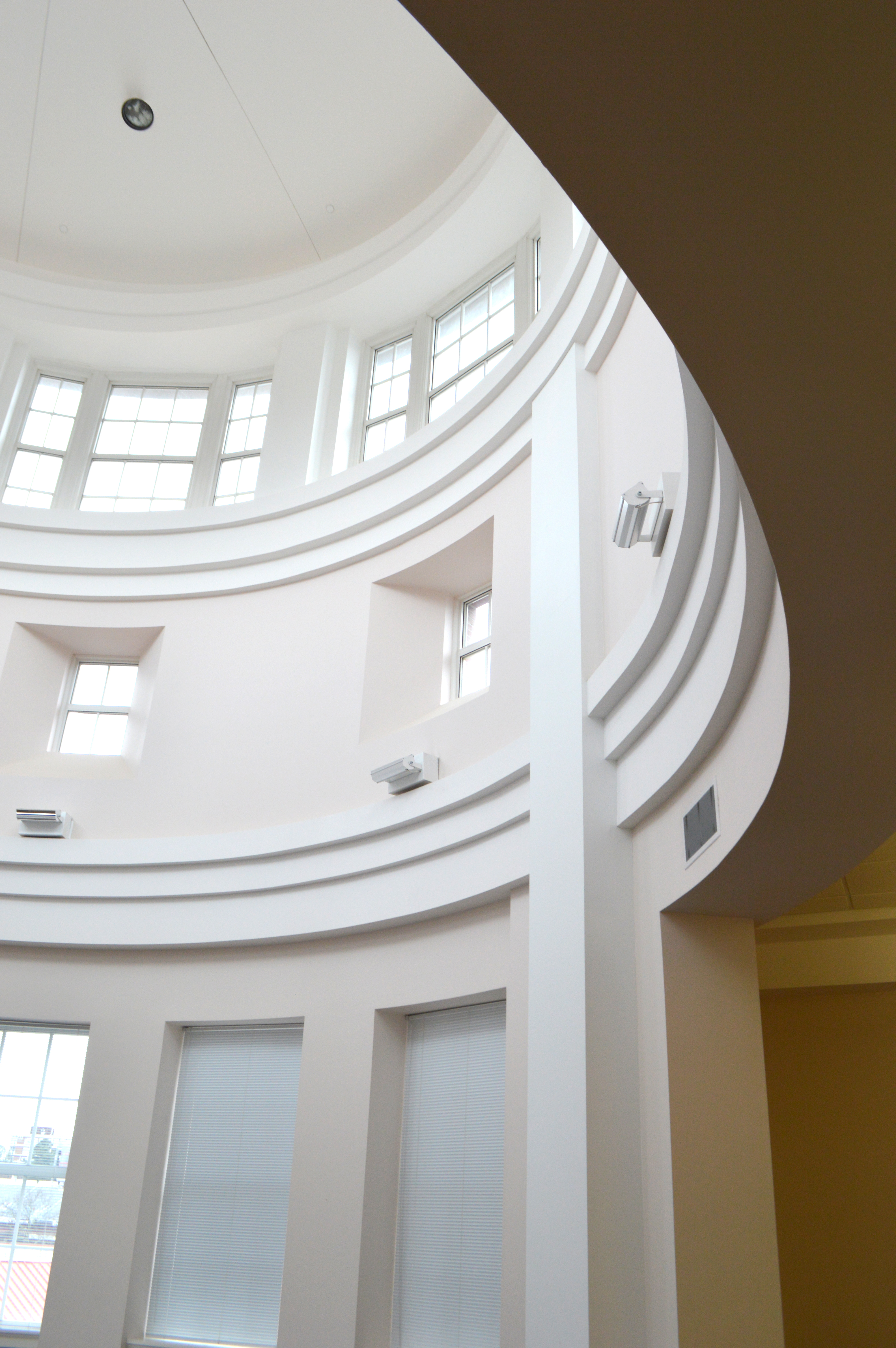 North Tower interior windows and dome